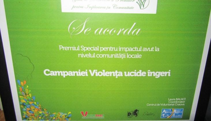 Premiul Special – Ziua Internationala a Voluntariatului 2011