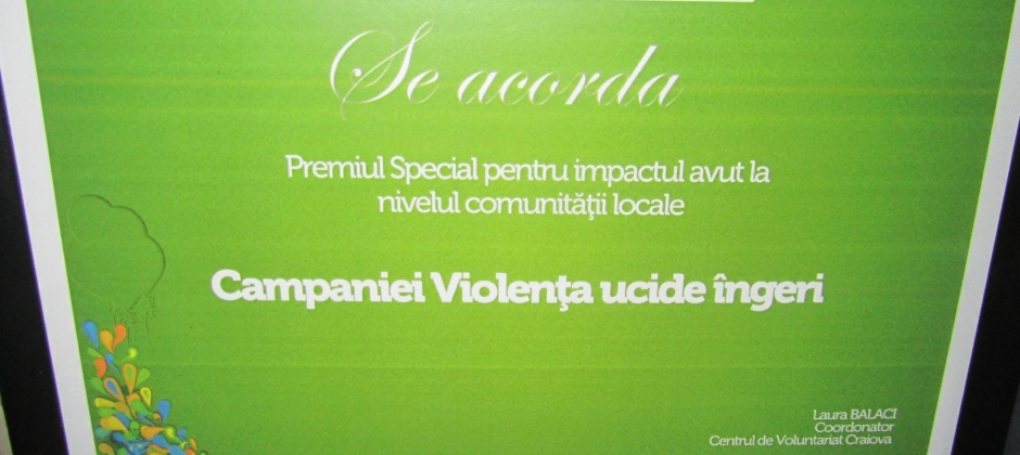 Premiul Special – Ziua Internationala a Voluntariatului 2011